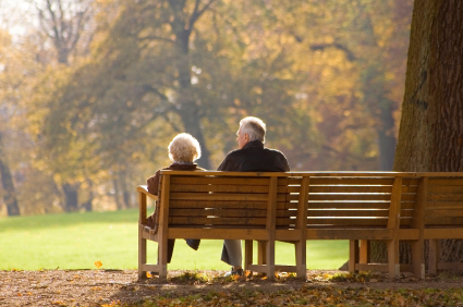 Old People On Park Benches