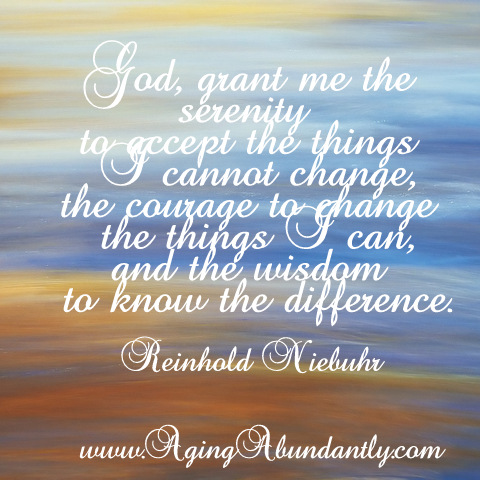 The Serenity Prayer by Reinhold Niebuhr